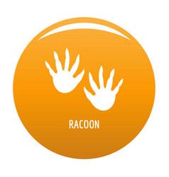 Racoon step icon orange vector