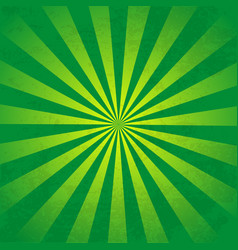 rays background green vector image