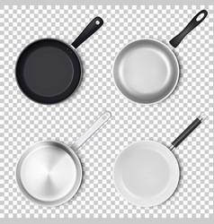 realistic 3d empty black silver non-stick vector image