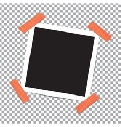 Realistic photo frame on sticky tape vector image