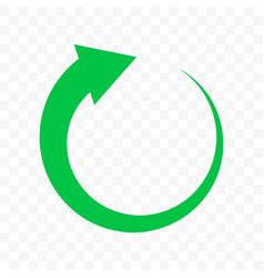 Recycle green arrow circle icon bio garbage reuse vector