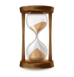 sand hourglass vector image