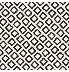 Seamless Black and White Hand Drawn Rhombus vector
