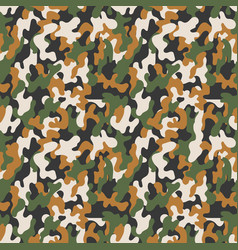 Seamless military camouflage pattern vector