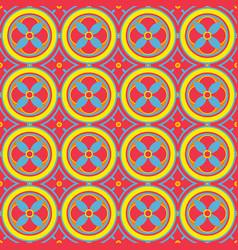Seamless pattern in oriental style geometrical vector