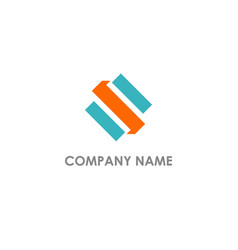 Shape letter s company logo vector