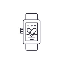 smart watches line icon concept smart watches vector image