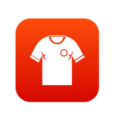soccer shirt icon digital red vector image