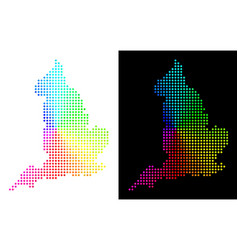 Spectral pixelated england map vector