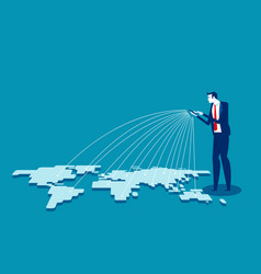 telecommunication global connection vector image