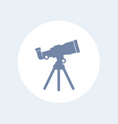telescope icon isolated on white vector image