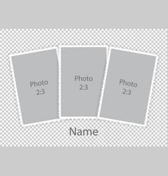 Template modern photoframes soft white frames vector