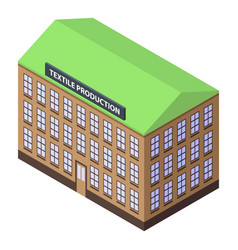 textile production building icon isometric style vector image