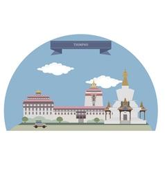 Thimphu vector image