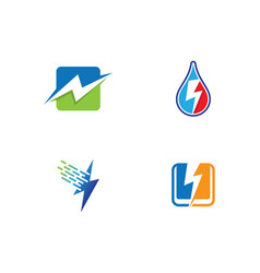 Thunderbolt logo template icon vector