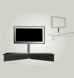 Tv with stand vector