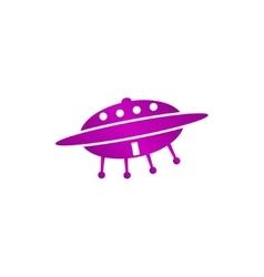UFO icon Flat vector