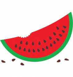 Watermelon with seeds vector