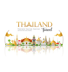 welcome to beautiful thailand travel vector image
