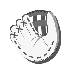 white baseball glove graphic vector image