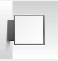 white square signboard on white background vector image