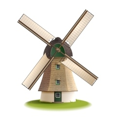 Windmill Painted Color Concept vector