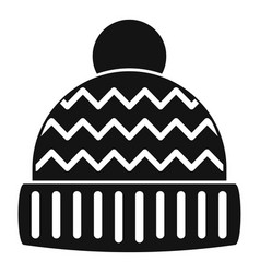 winter hat icon simple style vector image