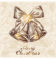 Christmas and New year holidays hand drawn card vector image