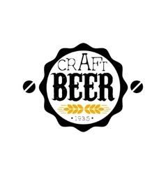 Craft Beer Round Logo Design Template vector image vector image