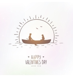 love boat vector image