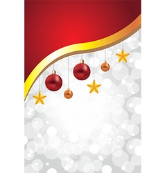 white christmas background decorations golden vector image vector image