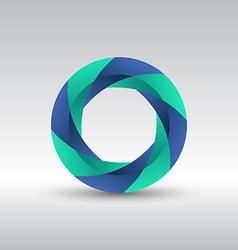 Abstract circle 3d logo icon vector image vector image