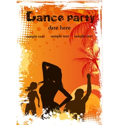 dance party vector image vector image