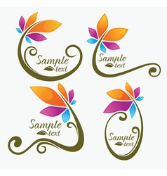 garden and flowers vector image vector image