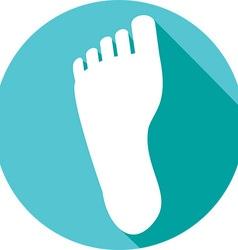 Human Foot Icon vector image