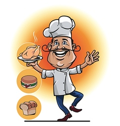 Master Chef Smile vector image