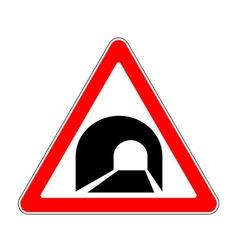 Road sign warning vector image