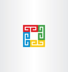 square colorful business logo icon vector image