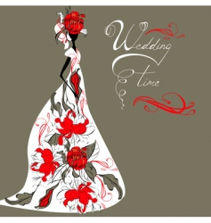 template for wedding card vector image vector image