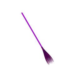 vintage broom in purple design vector image