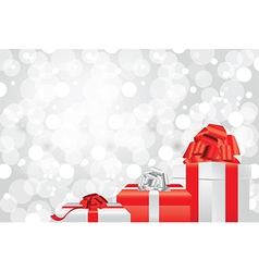 white christmas background gifts vector image vector image