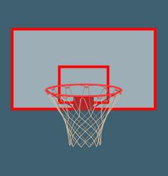 Basketball hoop on backboard isolated on white vector