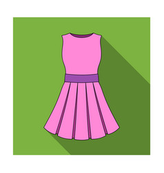 beautiful light pink summer dress without sleeves vector image