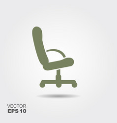chair flat icon vector image vector image