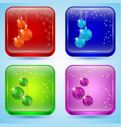 Christmas buttons vector image vector image