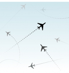 commercial airline vector image