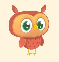 happy cartoon owl vector image vector image