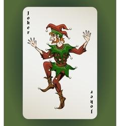 Joker card vector image vector image