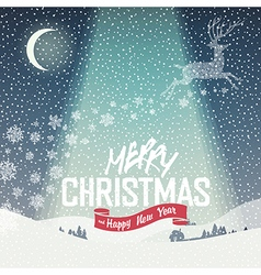 merry christmas background calm vector image