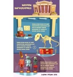 Museum infographic vector